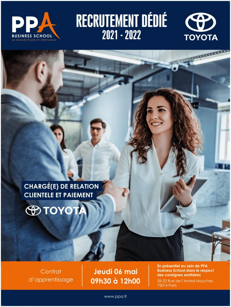 Affiche événement de recrutement Toyota avec PPA business school